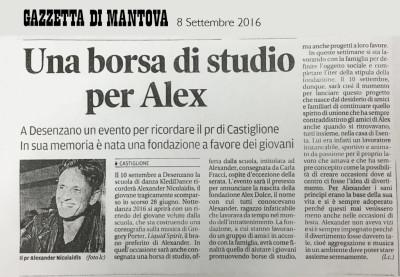 Fondazione Alex Dolce Rassegna Stampa